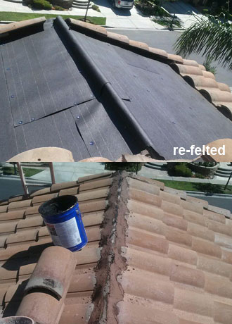 Roofing Leak Repair small roof repairs photos | repairs of leaks, drainage/ponding