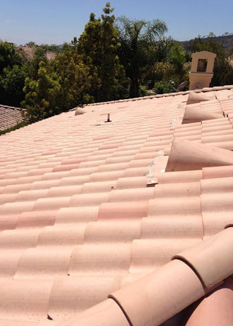 Replaced Cracked Roof Tiles